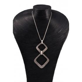 Collier 8 Angles sur chaine serpent argent - METAL&SENS