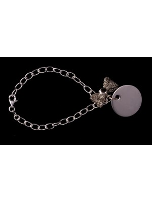 Bracelet chaîne forçat et charms METAL&SENS