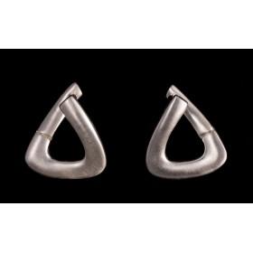 Boucles d'oreilles Triangles d'Argent
