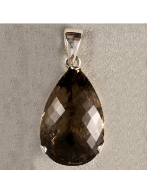 Pear Shaped Smoke Quartz Pendant - One single piece