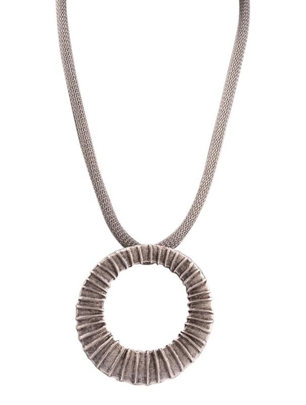 Collier maille d'acier et pendentif Cannelé