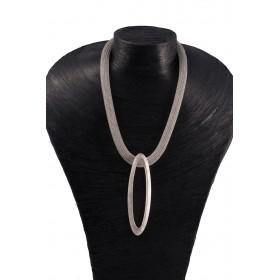 Chaine Double Ellypse brillant