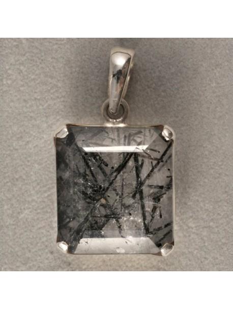Pendentif Quartz Tourmaline (sans chaînes) - METAL&GEMMES