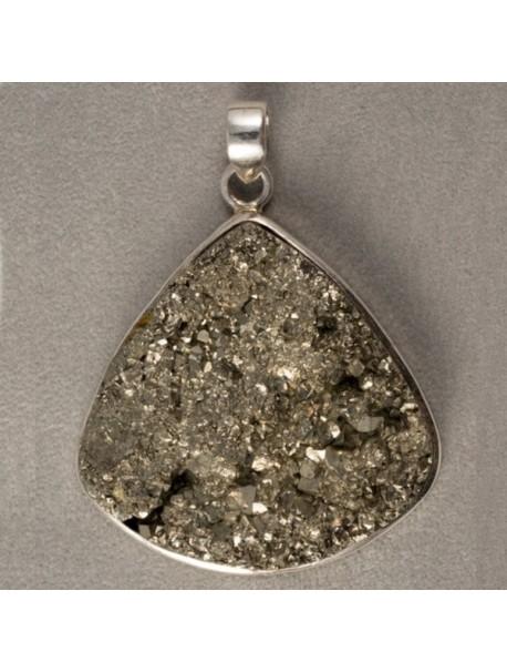 Pendentif Pyrite - pièce unique - METAL&GEMMES