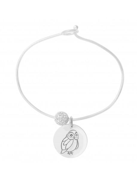 Bracelet rigide avec charms METAL&SENS