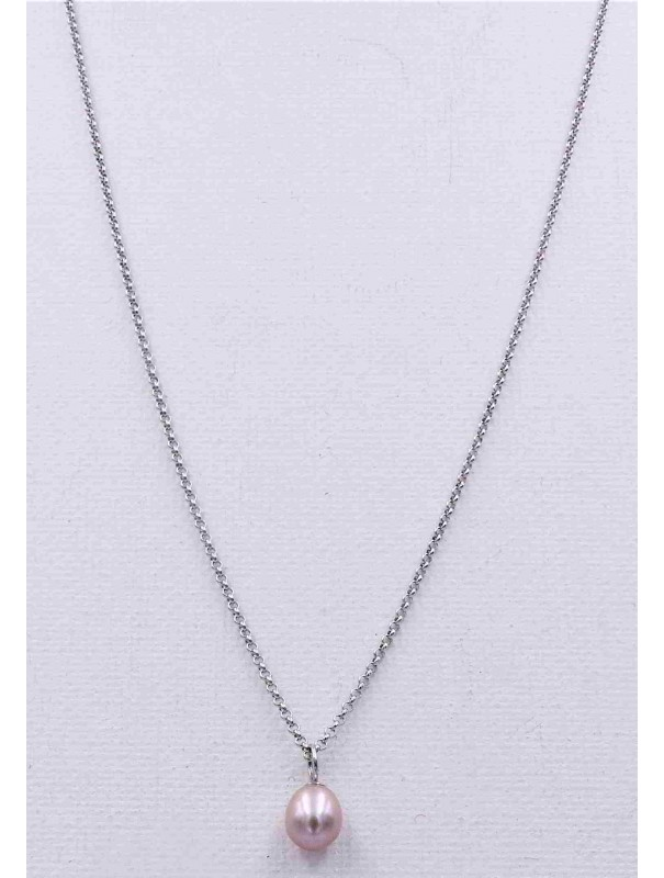 Collier Long Perle Rose