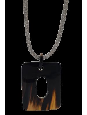 Collier corne - Chaîne acier