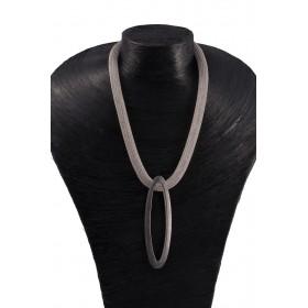 Chaine Double Ellypse - Argent noir